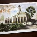 Paisaje urbano en acuarela. Un proyecto de Ilustración, Bellas Artes, Pintura, Dibujo y Pintura a la acuarela de Sergio Vera - 15.08.2020