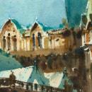 Catedral da Sé, 2021. Un proyecto de Arquitectura, Pintura a la acuarela e Ilustración arquitectónica de Gonzalo Ibáñez - 03.03.2021