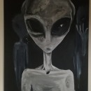Mis aliens. A Artistic drawing, Acr, lic Painting, and Oil painting project by Ban Lesage - 03.05.2021