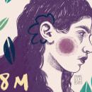 8M FEMINISTA. Un proyecto de Ilustración, Creatividad, Dibujo, Ilustración digital, Ilustración de retrato, Dibujo de Retrato, Dibujo artístico, Dibujo digital e Ilustración editorial de Ana Cebrian Martinez - 06.03.2021
