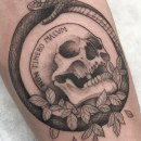 Tatuajes de cráneos. Un proyecto de Diseño de tatuajes de Mazvtier - 08.03.2021