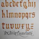 Caligrafía - Textura Quadrata. Um projeto de Caligrafia e Design de Federico Biagioli - 09.03.2021