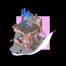 Eki. Um projeto de Arquitetura, Ilustração digital, Ilustração Arquitetônica e Desenho digital de Hector Velazquez - 09.03.2021