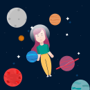 Sueño espacial. Um projeto de Animação 2D e Ilustração digital de Manu Giraldo Giraldo - 17.08.2019