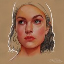 Pastel y lapiz proceso. Um projeto de Ilustração, Criatividade, Ilustração de retrato e Desenho de Retrato de Elena Pancorbo - 11.03.2021
