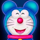 Doraemon x Mickey. Un proyecto de Ilustración, Dirección de arte, Diseño de personajes, Ilustración digital, Dibujo digital y Pintura digital de Javi Márquez López - 14.03.2021