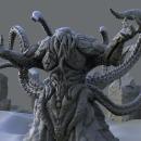 Escultura de kraken finalizado . Un proyecto de Escultura y Modelado 3D de Micahel Narvaez Machuca - 15.03.2021