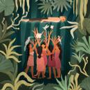Burgama Witches. A Children's Illustration, and Digital illustration project by Juanita Londoño Gaviria - 12.20.2019