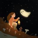 Spooky Ghost. Um projeto de Ilustração infantil e Ilustração digital de Juanita Londoño Gaviria - 10.10.2020
