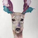 Mi Proyecto del curso: Ilustración surrealista inspirada en la naturaleza. Un proyecto de Ilustración, Dibujo a lápiz, Dibujo, Dibujo artístico e Ilustración naturalista de Florence Saje - 19.03.2021