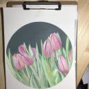 Tulipanes en acuarela con técnica en negativo. Un proyecto de Ilustración botánica de Pili Guardiola - 20.03.2021