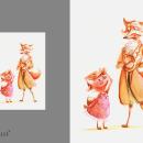 Acuarelas y técnica mixta // Ilustraciones. Un proyecto de Pintura a la acuarela, Ilustración infantil, Ilustración editorial e Ilustración naturalista de Laura Fernández Aguilar // DeLucilles - 22.04.2020