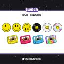 Emblemas suscripción - Twitch. Un proyecto de Redes Sociales, Ilustración vectorial y Diseño para Redes Sociales de Laura Brunneis - 23.03.2021