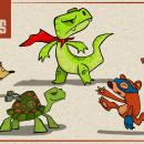 Super Animals. Un proyecto de Ilustración, Diseño de personajes, Animación 2D e Ilustración digital de Camilo Ducuara Gordillo - 26.03.2021