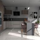 Cocina con peninsula. Um projeto de Design, 3D, Culinária, Arquitetura de interiores, Design de interiores e 3D Design de Maria Rivero - 26.03.2021