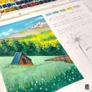 Mi Proyecto del curso: Cuaderno de viaje en acuarela. A Illustration, and Watercolor Painting project by Niabellum - 03.26.2021