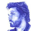 Simon Le Bon. Nº 1. Duran Duran serie.. Um projeto de Desenho de Retrato, Desenho realista e Desenho artístico de Cristina Bustamante Runde - 01.07.2020