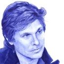 Roger Taylor. Nº 4. Duran Duran serie. Retrato a bolígrafo.. Um projeto de Desenho, Desenho de Retrato e Desenho realista de Cristina Bustamante Runde - 01.07.2020