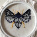 My first embroidery moth. Um projeto de Bordado de Ariadna Uxue Palomino Ylla - 27.03.2021