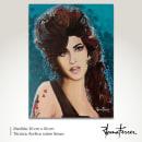 Portrait of Amy Winehouse. Um projeto de Artes plásticas, Pintura Acrílica e Brush painting de Romana Ferrer Escandell - 27.03.2021