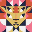 Geometrical patterned characters. Um projeto de Ilustração digital e Ilustração vetorial de Martin Laksman - 28.03.2021