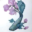 Unexpected blooming. Un proyecto de Ilustración, Dibujo a lápiz, Dibujo, Dibujo artístico e Ilustración naturalista de Florence Saje - 28.03.2021