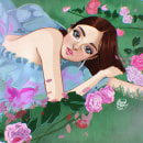 Jennie, álbum Solo. Un proyecto de Ilustración, Diseño gráfico, Ilustración digital, Diseño digital y Dibujo digital de Airin Vacnar - 29.03.2021