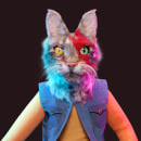 URBAN CATS. Um projeto de 3D, Modelagem 3D, Design de personagens 3D e 3D Design de Bernat Casasnovas Torres - 15.01.2021