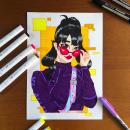 Meu projeto final do curso: Técnicas para colorir desenho mangá com marcadores. Um projeto de Comic, Desenho e Desenho mangá de Gio Boaventura - 02.04.2021