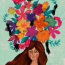 Mi Proyecto del curso: Amelia y las flores. Um projeto de Ilustração, Criatividade e Desenho digital de Gabiru Biru - 03.04.2021