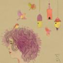 Un nido en mi cabeza. Un proyecto de Ilustración de retrato de Ma Jime Vera Berón - 03.04.2021