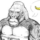 sábio gorila. Un proyecto de Ilustración, Dibujo, Dibujo digital y Pintura digital de Lucas Castelo - 03.04.2021