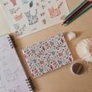 Patrón gatitos para encuadernación artesanal. Un proyecto de Ilustración digital, Encuadernación e Ilustración infantil de Ma Jime Vera Berón - 08.02.2021