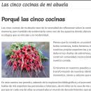 Las cinco cocinas de mi abuela. Um projeto de Web design de Cristina Balseca - 21.03.2021