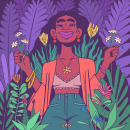 BEAUTY IN NATURE. Un proyecto de Ilustración y Dibujo digital de Cristina Segura - 05.04.2021