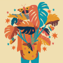 Monstera Day. Un proyecto de Ilustración digital e Ilustración textil de Bárbara Dantas - 05.11.2020