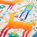 Los Andes y el Desierto de Atacama. Um projeto de Ilustração, Ilustração têxtil e Tingimento Têxtil de Ikaro Batik - 06.04.2021