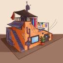Concept Art Diseño de Casa. Un proyecto de Ilustración e Ilustración digital de Hela Haghenbeck - 07.04.2021