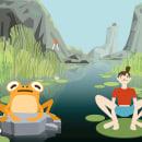 Animación: La mosca, la rana y la humana. Un proyecto de Cine, vídeo, televisión, Animación, Diseño de personajes, Cine, Vídeo, Animación de personajes, Animación 2D y Humor gráfico de Cristina Llera - 07.04.2021