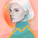 Mientras. A Illustration, Pencil drawing, Digital illustration, Portrait illustration, and Portrait Drawing project by Nat de la Croix - 04.09.2021