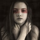 Mi Proyecto del curso: Lara Retrato realista al carboncillo . Un proyecto de Bellas Artes y Dibujo de Retrato de Llanos Part Jornet - 10.04.2021