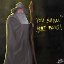•Gandalf•. Un proyecto de Ilustración, Dibujo, Ilustración digital, Ilustración de retrato y Dibujo digital de Paula Gutiérrez Cadavid - 28.10.2020