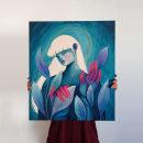 Leaves - Acrylic on canvas. Un proyecto de Pintura y Pintura acrílica de Valeria Araya - 12.04.2021