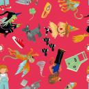 Colección Pattern Oz. Um projeto de Ilustração, Design de personagens, Pattern Design, Ilustração têxtil e Ilustração infantil de Mònica Roca - 13.04.2021