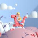 Dino´s Ride. Um projeto de 3D, Animação de personagens, Animação 3D, To e Art de Hugo Puente - 14.04.2021