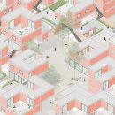 Conjunto de viviendas . Un proyecto de Ilustración arquitectónica de ines albertengo - 14.04.2021