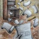 Autoretrato en tiempos de aislamiento. A Illustration, Drawing, and Artistic drawing project by Mica Gonzalez - 04.15.2021