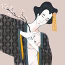 Cherry Blossom. Un progetto di Illustrazione di Alina Zarekaite - 15.03.2021