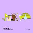 2D rotation — Microanimations. Um projeto de Ilustração, Motion Graphics, Animação, Design gráfico e Animação 2D de María Marqueses - 15.04.2021