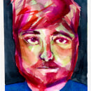 Portrait watercolor - Ale Casanova. A Fine Art, Painting, and Watercolor Painting project by Grazielle Marques - 10.28.2020